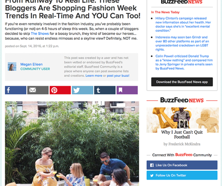 BuzzFeed: From Runway To Real Life