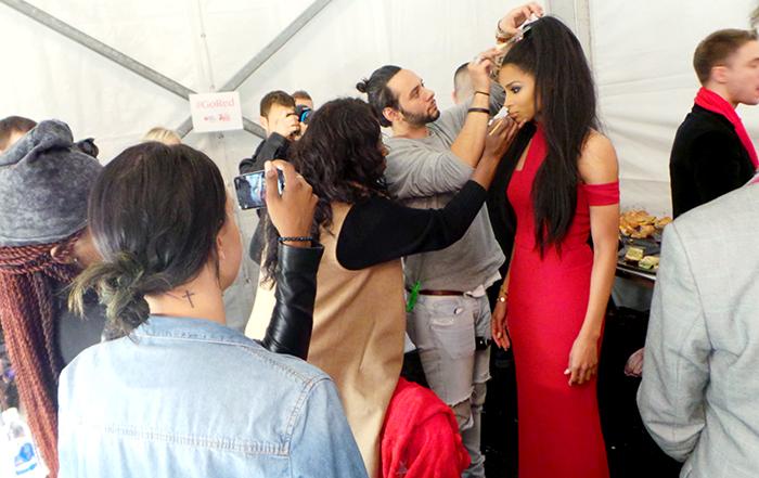 ciara backstage fashion show