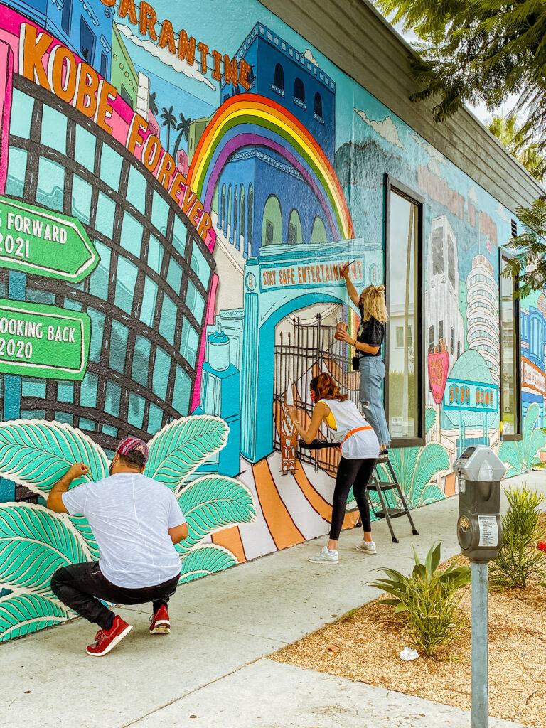 inspirational los angeles mural