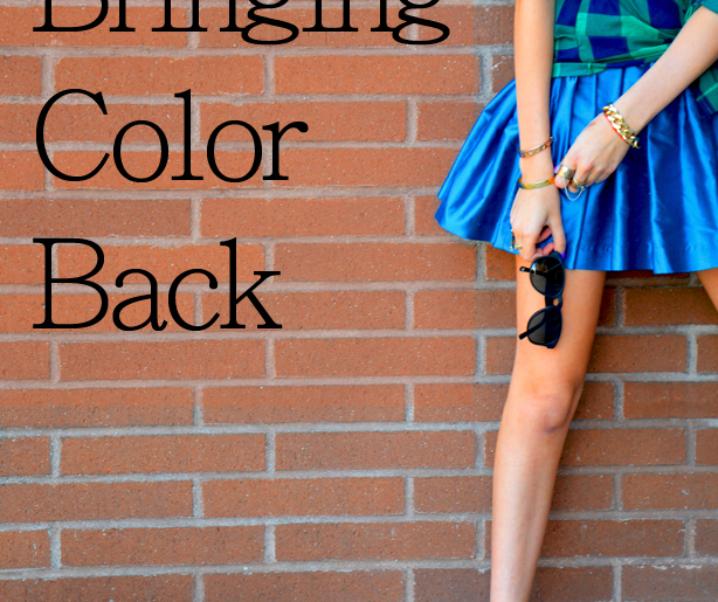 Bringing Color Back