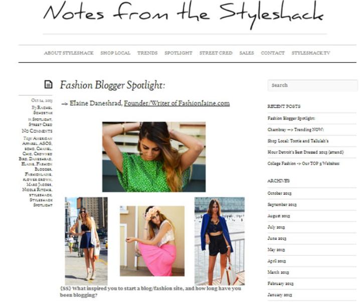 Styleshack: Fashion Blogger Spotlight