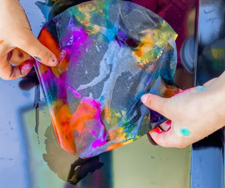 Tie Dye Coffee Filter Marker Art for Kids