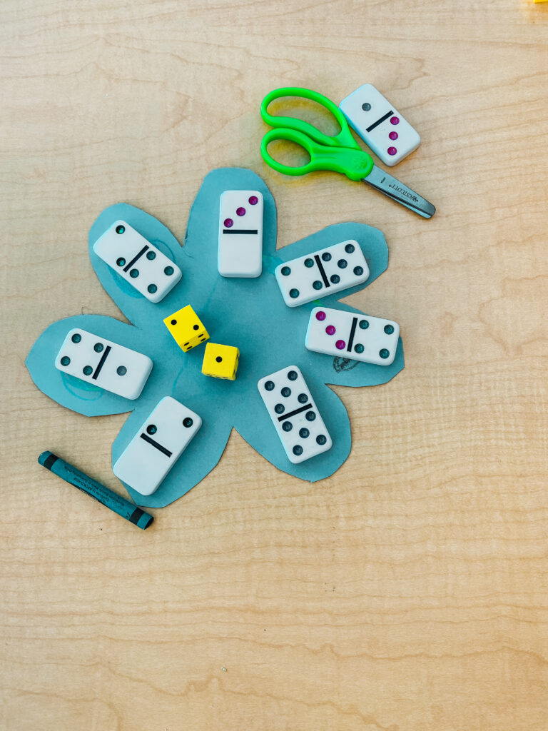 Practicing addition with dominos