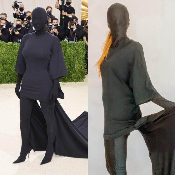 Kim Kardashian MET Gala Halloween Costume for less than $60!